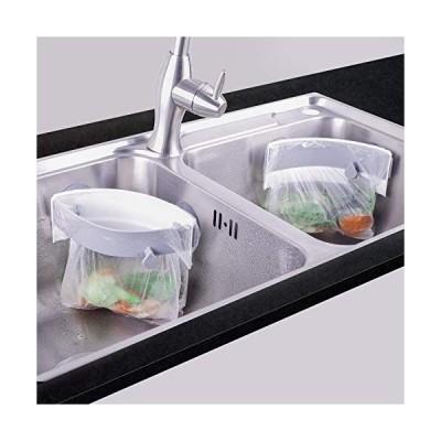 三角コーナー 開閉可能生ゴミ袋ホルダー キッチンシンクを広く使える さんかくコーナー いらず 省スペース 水切り袋ホルダー ポリ袋エコスタン