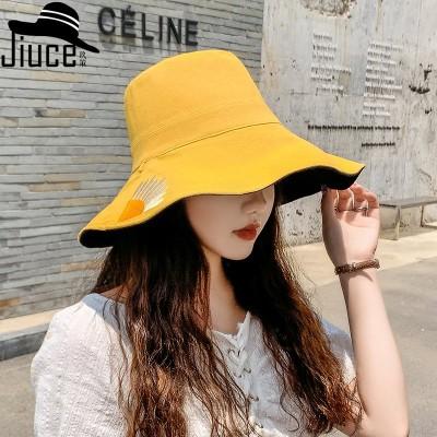 2020年新しい韓国の夏の男性と女性のカジュアルなファッション帽子折りたたみ両面帽子UV保護日焼け止め帽子綿とリネン広い帽子