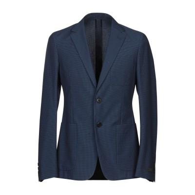 プラダ PRADA テーラードジャケット ブルー 46 バージンウール 55% / コットン 45% テーラードジャケット