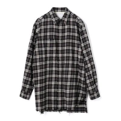 シャツ ブラウス ESTNATION / ロングチェックシャツ