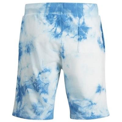 ジャック アンド ジョーンズ カジュアルパンツ ボトムス メンズ Men's Tie Dye Drawstring Shorts Mediterranian Blue