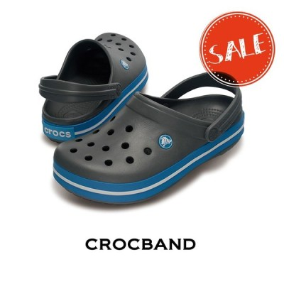 【クロックス crocs メンズ レディース】crocband/クロックバンド/チャコールxオーシャン