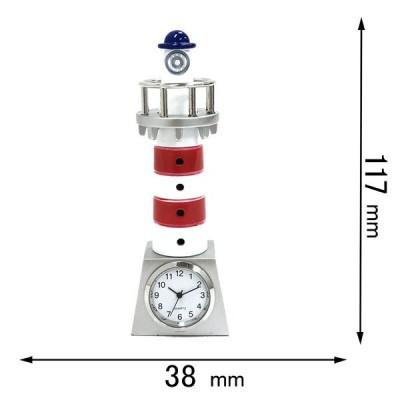 ミニチュアクロック Miniature Clock Collectionミニチュア置時計 灯台 トリコロールカラー C3645 返品種別B