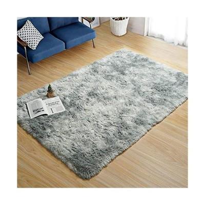 ラグ 洗える カーペット ラグマット 可愛い絨毯 130x185cm(約1.5畳) グレー 滑り止め付 防臭 防ダニ 1年中使える 床暖房
