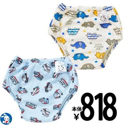 ベビー服  男の子 2枚組4層吊り式トレーニングパンツ(ゾウ・車) 80cm・90cm・95cm・100cm 赤ちゃん ベビー 新生児 乳児 幼児