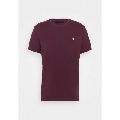 ライルアンドスコット Tシャツ メンズ トップス PLAIN - Basic T-shirt - burgundy