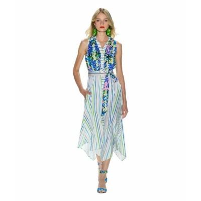 バッジェリーミシュカ ワンピース トップス レディース Mixed Print Runway Dress White Multi