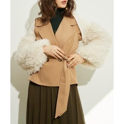 コート トレンチコート 【LA BELLE ETUDE】【Belle vintage】ボアニットボレロショートトレンチ