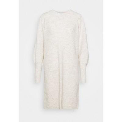 セレクテッドフェム レディース ワンピース トップス SLFLINNA NEW DRESS O NECK - Jumper dress - sandshell sandshell