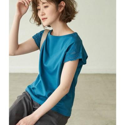 ロペピクニック ROPE' PICNIC 袖刺繍カットトップス (グリーン(30))