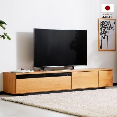 [幅180] テレビ台 日本製 ローテレビ台 50V型対応 完成品 木製