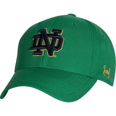 アンダーアーマー Under Armour メンズ キャップ 帽子 Notre Dame Fighting Irish Green Adjustable Hat
