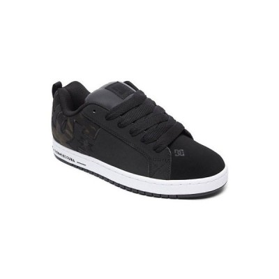 スニーカー ディーシーシューズ DC Shoes Men's Court Graffik SE Low Top Sneaker Shoes Camo Black Footwear Skate
