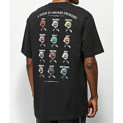 ブロークン プロミス BROKEN PROMISES メンズ Tシャツ トップス Broken Promises Feeled Guide Black T-Shirt Black