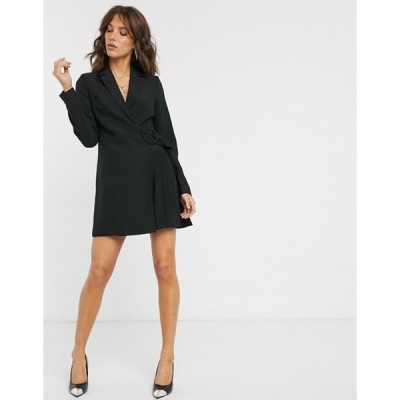 ファッションモンキー レディース ワンピース トップス Fashion Union wrap blazer mini dress