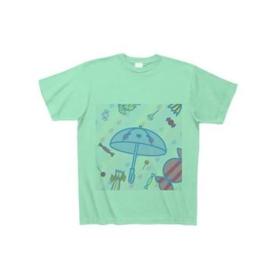 あめが降る Tシャツ(ミントグリーン)