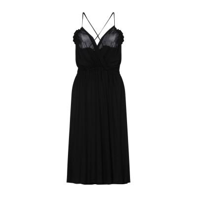 VANESSA BRUNO 7分丈ワンピース・ドレス ブラック S レーヨン 100% 7分丈ワンピース・ドレス
