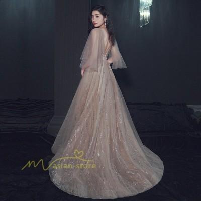ドレス 結婚式 ワンピース パーティードレス フォーマルドレス お呼ばれ 服装 お揃いドレス ゲストドレス エレガント 花嫁 ロングドレス マキシワンピ チュール