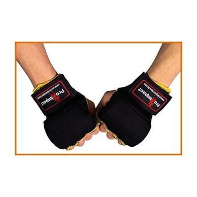 送料無料 Pro Impact ボクシング MMA クイックハンドラップグローブ - 使いやすい拳と手首保護 - ボクシング