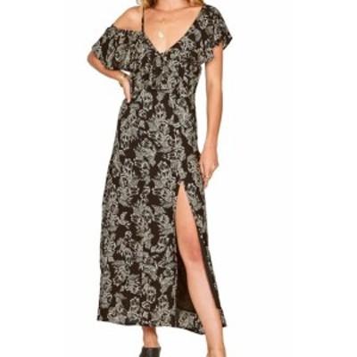 Amuse Society アミューズソサイエティー ファッション ドレス Amuse Society NEW Black Cold Shoulder Women Small S Floral Sheath Dre