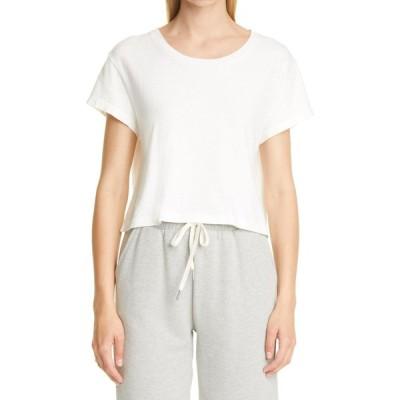 ジョン エリオット JOHN ELLIOTT レディース ベアトップ・チューブトップ・クロップド Tシャツ トップス Cotton Crop T-Shirt Chalk