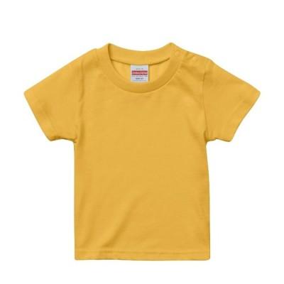 Tシャツ 半袖 キッズ 子供服 ハイクオリティー 5.6oz 90 サイズ BANANA 無地 ユナイテッドアスレ CAB