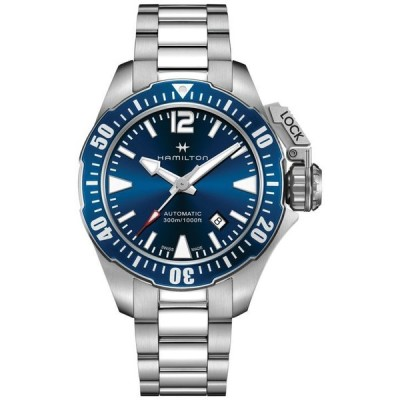 ハミルトン メンズ 腕時計 アクセサリー Men's Swiss Automatic Khaki Frogman Stainless Steel Bracelet Watch 42mm H77705145