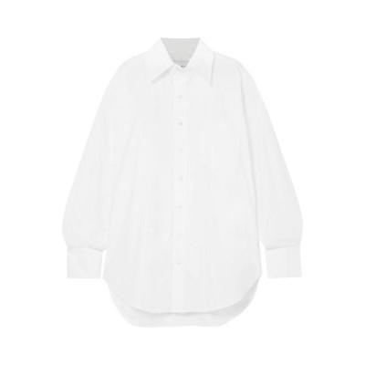 MATTHEW ADAMS DOLAN 無地シャツ&ブラウス ファッション  レディースファッション  トップス  シャツ、ブラウス  長袖 アイボリー
