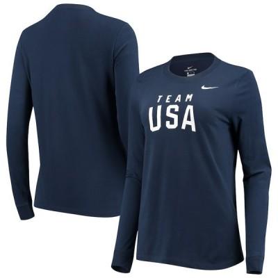 ナイキ レディース Tシャツ トップス Team USA Nike Women's Wordmark Classic Core Long Sleeve Performance T-Shirt