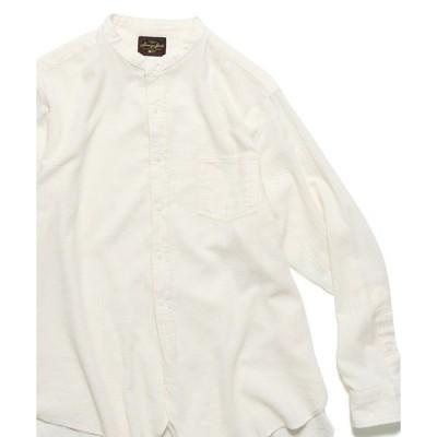 シャツ ブラウス ORGANIC STAND SHIRTS バンドカラーシャツ