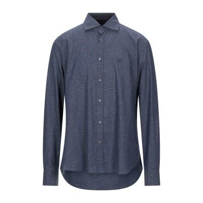 CORNELIANI ID シャツ ダークブルー 43 コットン 98% / ポリエステル 2% シャツ