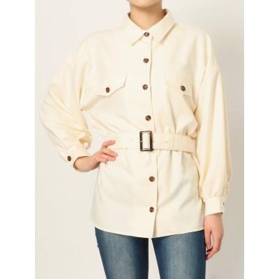 【公式】RESEXXY(リゼクシー)リネンライクベルト付きシャツ