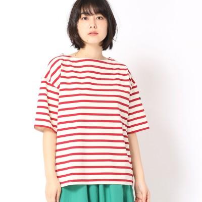 Grand PARK デラヴェボーダー柄半袖Tシャツ (01レッド)