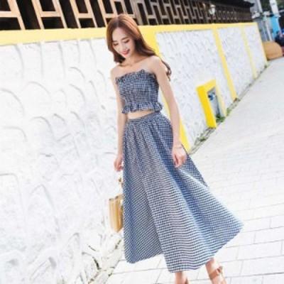 スカート フレアスカート ロング ロングフレアスカート 大きいサイズ セットアップ フレアスカート春 チェックロングスカート