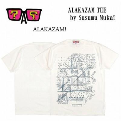 半額セール ALAKAZAM アラカザム Tシャツ 半袖 グラフィック ALAKAZAM TEE by Susumu Mukai/WHITE 再入荷