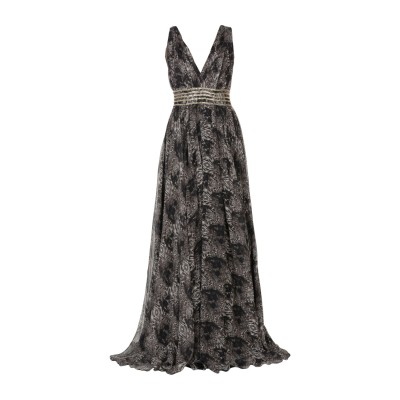 PHILIPP PLEIN ロングワンピース&ドレス グレー S シルク 100% ロングワンピース&ドレス