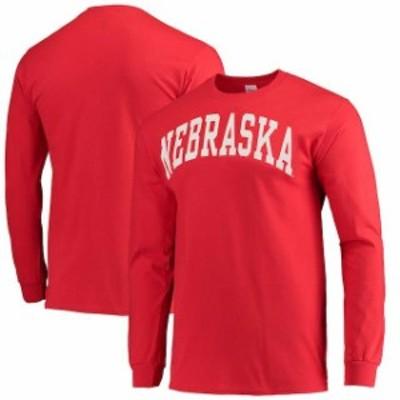 New Agenda ニュー アジェンダ スポーツ用品  Nebraska Cornhuskers Scarlet Vertical Arch Long Sleeve T-shirt