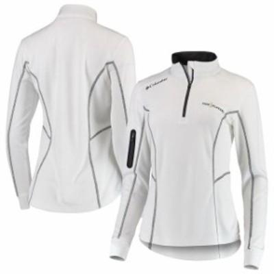 Columbia コロンビア スポーツ用品  Columbia THE PLAYERS Womens White Omni-Wick Shotgun Quarter-Zip Pullover Jacket