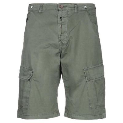 BERNA ショートパンツ&バミューダパンツ ファッション  メンズファッション  ボトムス、パンツ  ショート、ハーフパンツ ミリタリーグリーン