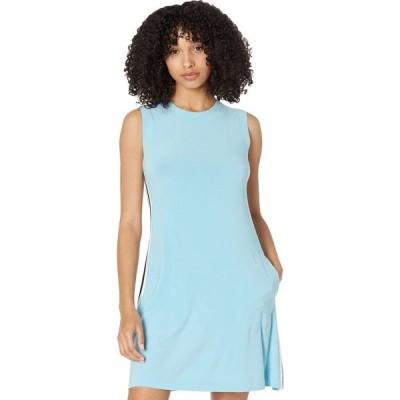 ノーマ カマリ KAMALIKULTURE by Norma Kamali レディース ワンピース ノースリーブ Side Stripe Sleeveless Swing Dress Powder Blue/Offset Stripe