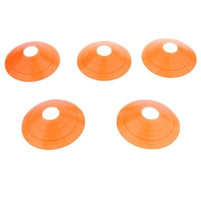 5本サッカーミニディスクコーン境界マーカースケート敏捷訓練補助オレンジ