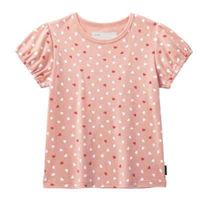 ソフのびフライスパフスリーブTシャツ【女の子 子供服】【無地】(ジータ/GITA basic)