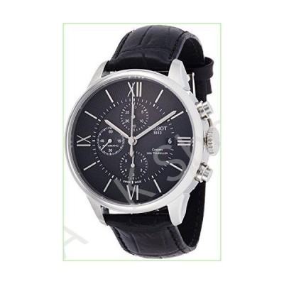 Tissot Men's T-Classic Stainless Steel Swiss-Automatic Watch with Leather Strap, Black, 21 (Model: T0994271605800)【並行輸入品】