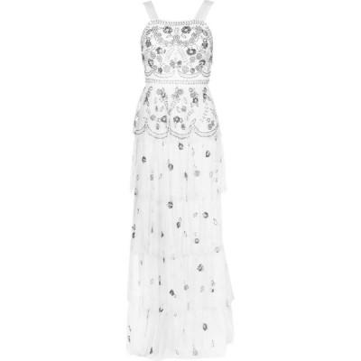 フロックアンドフリル Frock and Frill レディース ワンピース ワンピース・ドレス F&F StrapEmbFrillMax Bright White
