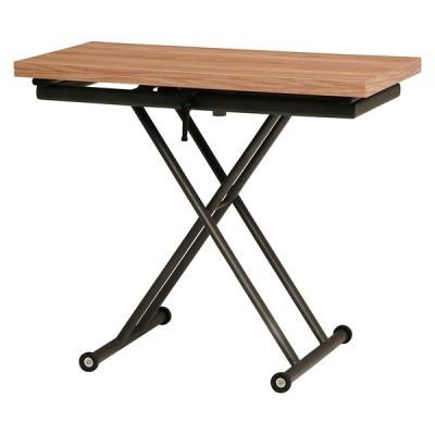 【送料無料】エクステンション昇降テーブル(ナチュラル)