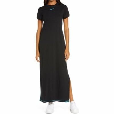 ナイキ NIKE レディース ワンピース マキシ丈 ワンピース・ドレス Sportswear Icon Clash Maxi Dress Black/Chlorine Blue