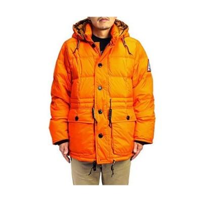 (ウッズ) WOODS メンズ フード付きダウンジャケット (オレンジ, X-Large)