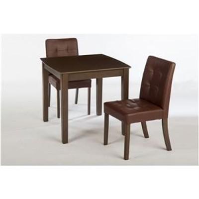 【単品】ダイニングテーブル/リビングテーブル 【正方形 75cm角】 木製 2人掛け用   ブラウン【代引不可】