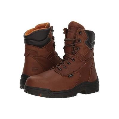 """ティンバーランド Titan 8"""""""" Waterproof Safety Toe メンズ ブーツ Cappucino Full-Grain Leather"""