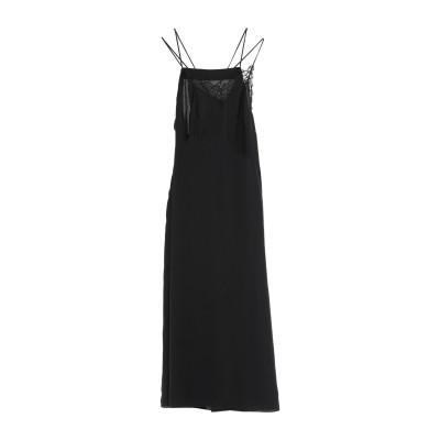 メゾン マルジェラ MAISON MARGIELA ロングワンピース&ドレス ブラック 38 ポリエステル 100% ロングワンピース&ドレス